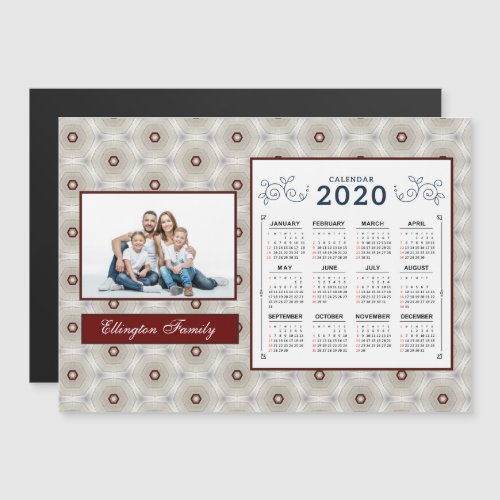 2020 Year Calendar Personalize Customize Magnet