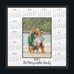 "2021 Add Your Photo Magnetic Calendar<br><div class=""desc"">2021 Photo Magnetic Calendar Magnet in white,  with a modern black border. Add your photo and name for a fun,  personalized gift! Perfect for stocking stuffers or small gifts for friends,  family,  and loved ones.</div>"