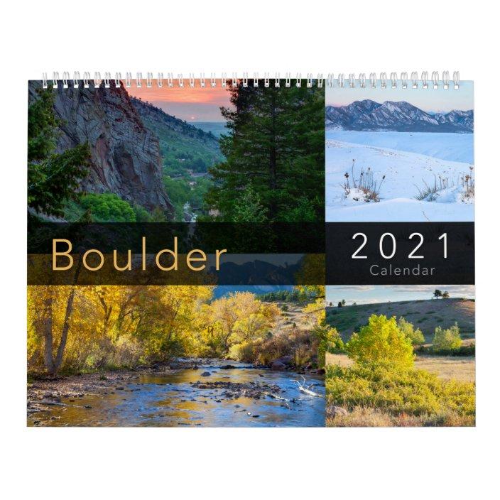 Cu Boulder Calendar 2022.2021 Boulder Colorado Nature Calendar Zazzle Com