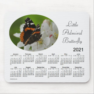 2021 Butterfly Calendar by Janz Mouse Pad