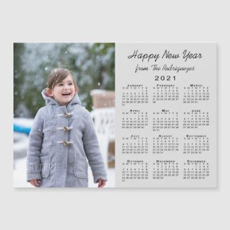 2021 Calendar Modern Photo Gray Happy New Year