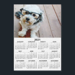 """2021 Calendar with Photo Basic Black White Minimal<br><div class=""""desc"""">A very useful item for school or home office. A standard look for your home office or school locker. This shows a full year view of all dates.</div>"""