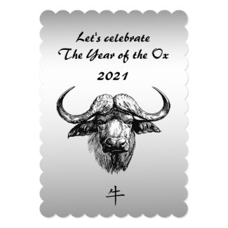 2021 Chinese New Year of the Ox Invitation