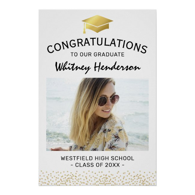 2021 Congratulations Graduate Photo Poster
