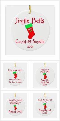2021 Covid-19 Christmas Ornaments