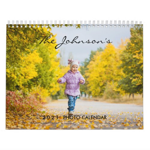 2021 Custom Photo Calendar  Editable Year Text