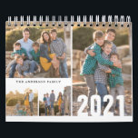 "2021 Custom Photo Calendar Simple Create Your Own<br><div class=""desc"">Simple Modern Minimalist 2021 Custom Photo Collage Editable Year Family Kids Children Nature Photography Business Company Calendar</div>"