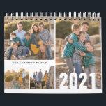 "2021 Custom Photo Calendar Simple Create Your Own<br><div class=""desc"">Simple Modern Minimalist 2021 Custom Photo Collage Editable Year Family Kids Children Nature Photography Business Company Calendar</div>"