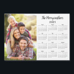 """2021 Customizable Family Name Photo<br><div class=""""desc"""">2021 Customizable Family Name and Photo Magnetic Calendar featuring your personalized photo and name. Designed for 2021,  and perfect for small gifts,  stocking stuffers,  or in place of holiday cards!</div>"""