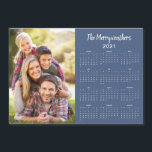 "2021 Customizable Family Name Photo Calendar<br><div class=""desc"">This is the Blue Version of our 2021 Customizable Family Name and Photo Magnetic Calendar featuring your personalized photo and name. Designed for 2021,  and perfect for small gifts,  stocking stuffers,  or in place of holiday cards!</div>"