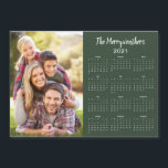 "2021 Customizable Family Name Photo Calendar<br><div class=""desc"">This is the Green Version of our 2021 Customizable Family Name and Photo Magnetic Calendar featuring your personalized photo and name. Designed for 2021,  and perfect for small gifts,  stocking stuffers,  or in place of holiday cards!</div>"