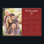 """2021 Customizable Family Name Photo Calendar<br><div class=""""desc"""">This is the Red Version of our 2021 Customizable Family Name and Photo Magnetic Calendar featuring your personalized photo and name. Designed for 2021,  and perfect for small gifts,  stocking stuffers,  or in place of holiday cards!</div>"""