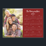 "2021 Customizable Family Name Photo Calendar<br><div class=""desc"">This is the Red Version of our 2021 Customizable Family Name and Photo Magnetic Calendar featuring your personalized photo and name. Designed for 2021,  and perfect for small gifts,  stocking stuffers,  or in place of holiday cards!</div>"