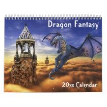2021 Dragon Fantasy Art Choose any Year Calendar