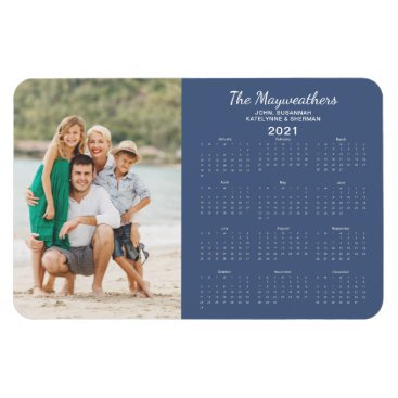 2021 Family Photo Yearly Calendar Magnet