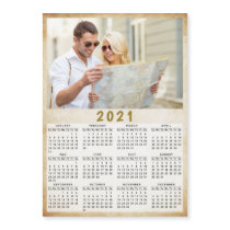 2021 Full Year Magnetic Calendar Custom Photo