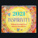 "2021 Inspirivity Calendar<br><div class=""desc"">This 2-page, 2021 inspirational, illustrated calendar highlights some of my favorite hand-drawn designs. This is the third year for an Inspirivity calendar and this was one of my most popular products last year. A ONE WORD calendar will also be available for 2021. The designs were chosen from my daily, inspirational...</div>"