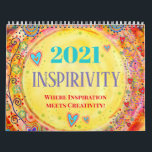 """2021 Inspirivity Calendar<br><div class=""""desc"""">This 2-page, 2021 inspirational, illustrated calendar highlights some of my favorite hand-drawn designs. This is the third year for an Inspirivity calendar and this was one of my most popular products last year. A ONE WORD calendar will also be available for 2021. The designs were chosen from my daily, inspirational...</div>"""
