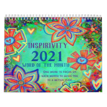 "2021 Inspirivity ""Word of the Month"" Calendar"