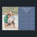 "2021 Personalized Family Name Photo Calendar<br><div class=""desc"">2021 Personalized Family Name and Photo Magnetic Calendar featuring your custom photo and name. Designed for 2021,  and perfect for small gifts,  stocking stuffers,  or in place of holiday cards!</div>"