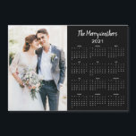 "2021 Personalized Newlywed Name Photo Calendar<br><div class=""desc"">This is the Black Version of our 2021 Customizable Family Name and Photo Magnetic Calendar featuring your personalized photo and name. Designed for 2021,  and perfect for small gifts,  stocking stuffers,  or in place of holiday cards!</div>"