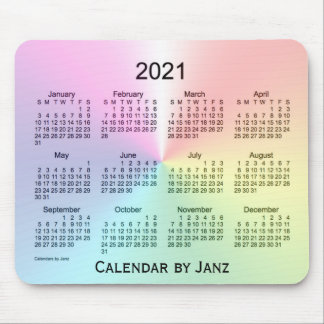 2021 Shimmer Calendar by Janz Mouse Pad