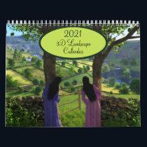 2021 Silverwebforge 3D Landscape Calendar