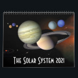 """2021 Solar System Space Astronomy Planets Calendar<br><div class=""""desc"""">This 2021 solar system calendar is a must for astronomy fans, and features twelve cool space photographs and illustrations from NASA and other agencies. The images used for each month are as follows: January - THE SUN - NASA/ESA February - MERCURY - NASA/Johns Hopkins University Applied Physics Laboratory/Carnegie Institution of...</div>"""