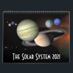 "2021 Solar System Space Astronomy Planets Calendar<br><div class=""desc"">This 2021 solar system calendar is a must for astronomy fans, and features twelve cool space photographs and illustrations from NASA and other agencies. The images used for each month are as follows: January - THE SUN - NASA/ESA February - MERCURY - NASA/Johns Hopkins University Applied Physics Laboratory/Carnegie Institution of...</div>"