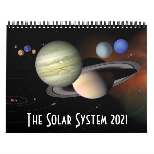 2021 Solar System Space Astronomy Planets Calendar
