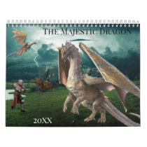 2021 The Majestic Dragon Any Year Fantasy Calendar