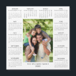 """2022 Calendar Full Year Photo Modern Magnet<br><div class=""""desc"""">Featuring a useful 2022 calendar,  you can personalize with your photo and family name to create a perfect 2022 new year gift. Designed by Thisisnotme©</div>"""