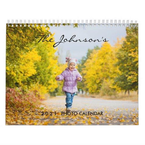 2022 Custom Photo Calendar  Editable Year Text