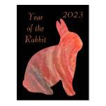 2023 años del conejo tarjetas postales