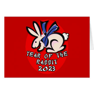 2023 Year of the Rabbit Apparel and Gifts Greeting Card