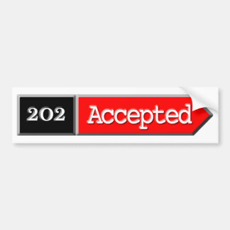 202 - Accepted Car Bumper Sticker