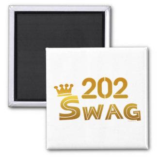 202 District of Columbia Swag 2 Inch Square Magnet