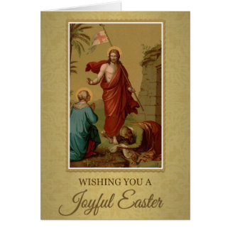 202 Happy Joyful Easter Sunday Greeting Card