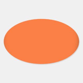 202__neon-orange-brad PINK CIRCLE POLKADOT TEMPLAT Oval Stickers