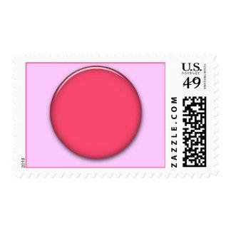 202__neon-pink-brad PINK CIRCLE POLKADOT TEMPLATE Postage