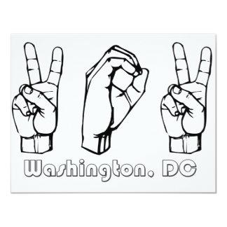 202 - Washington DC 4.25x5.5 Paper Invitation Card