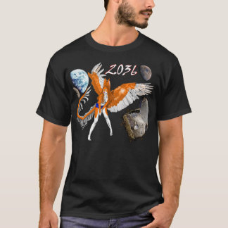 2036 asteroid furry angel rabbit dragon alien T-Shirt