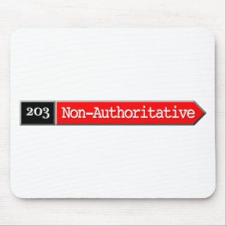 203-Non Authoritative Mouse Pad