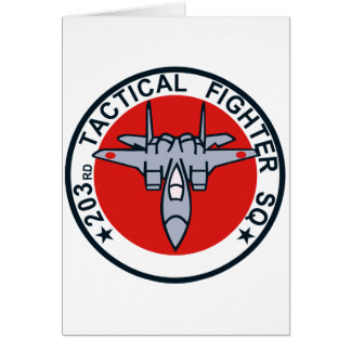 203SQ Tactical Fighter Patch Greeting Card