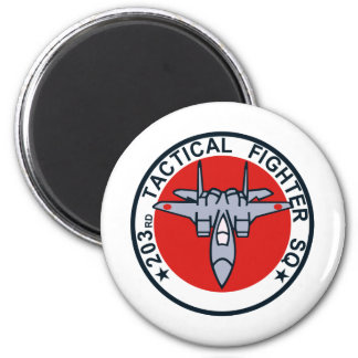 203SQ Tactical Fighter Patch 2 Inch Round Magnet