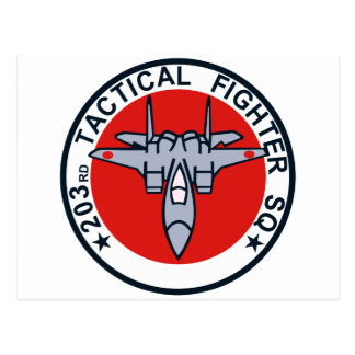 203SQ Tactical Fighter Patch Postcard