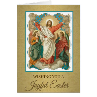 204 Happy Joyful Easter Sunday Greeting Card