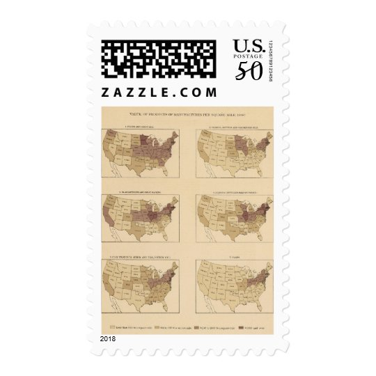 204 Manufactures/sq mile Postage