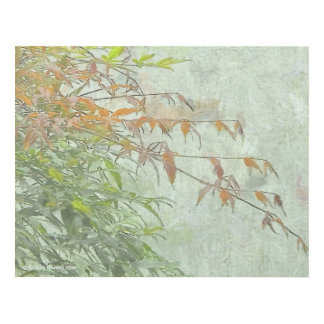 204 THIN BRANCHES AND DELICATE LEAVES PANEL WALL ART