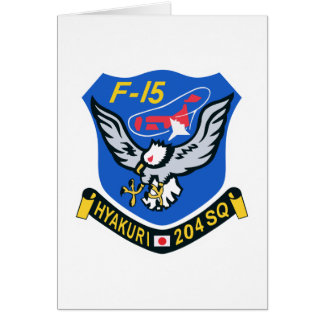 204SQ F-15 Hyakuri Patch Greeting Card